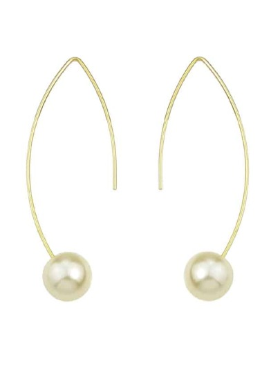 Pearl Geometric Dangle Earrings