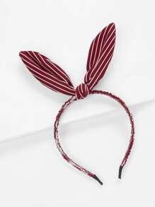 Striped Ear Design Headband