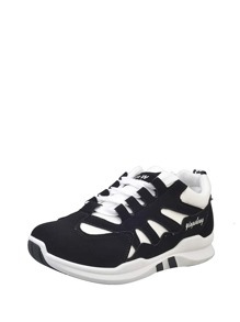 Two Tone Nubuck Leather Sneakers