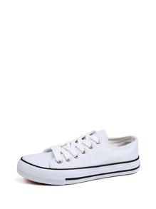 Lace Up Low Top Canvas Shoes
