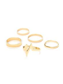 Flash Design Ring Set 5pcs