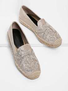 Chaussures plates avec strass