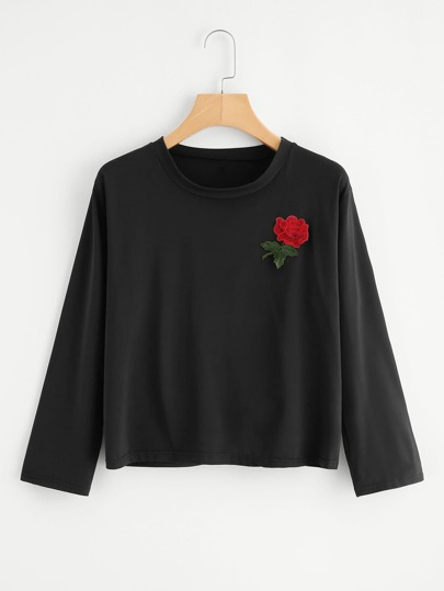 Embroidered Applique Tshirt