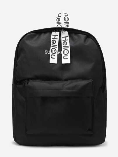 Double Zipper Canvas Backpack