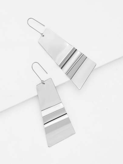 Irregular Metal Drop Earrings