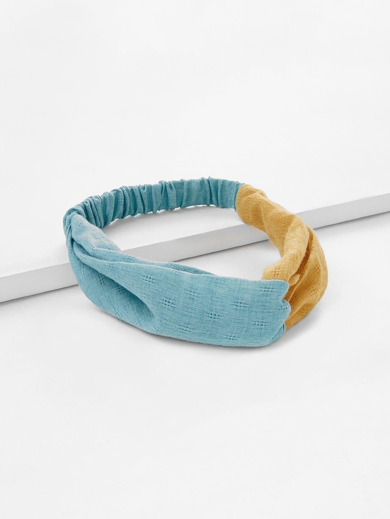 Two Tone Twist Headband drop crotch loose two tone pants