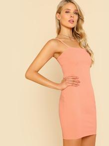Solid Cami Bodycon Dress