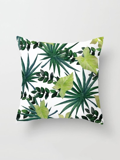 Leaf Print Cushion Cover