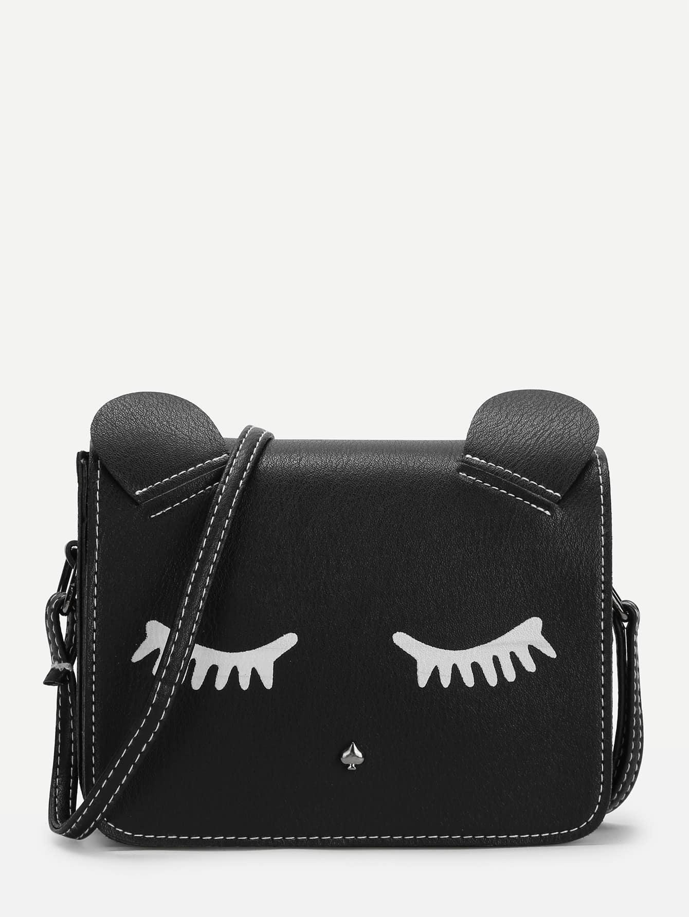 Купить Наплечная сумка для ресниц с узором, null, SheIn