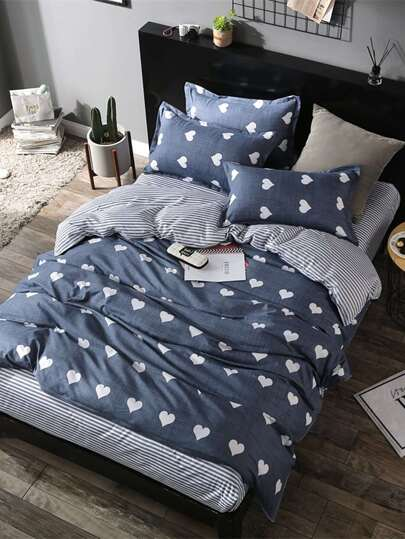 1.5m 4Pcs Seamless Pattern Bed Sheet Set
