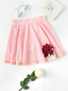 Rose Embroidered Applique Skirt