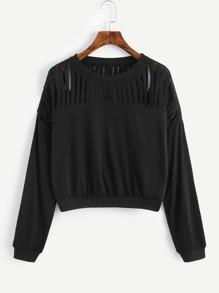 Drop Shoulder Ripped Tshirt
