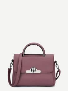 Twistlock Flap Satchel Bag