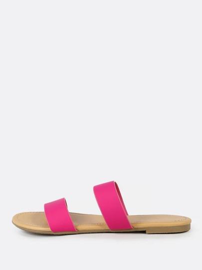 Double Band Slide Sandal PINK
