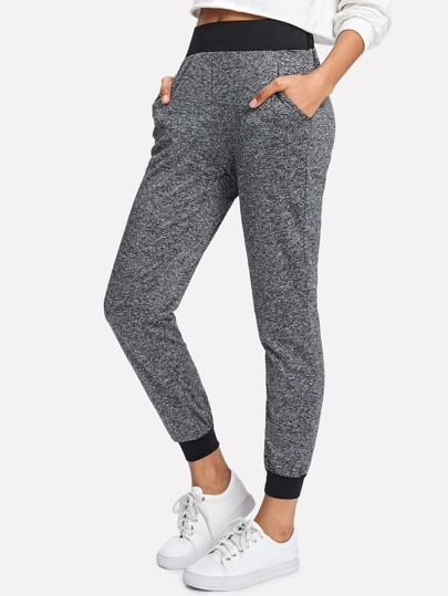 Pantalons taille color-block