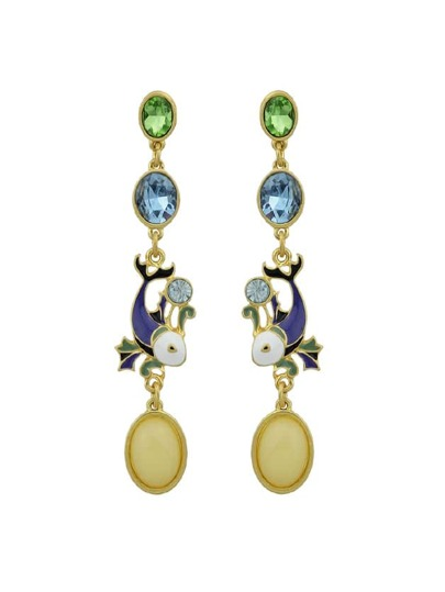 Crystal Drops Glaze Earrings