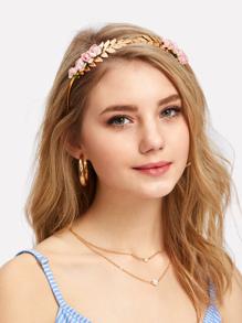 Rose Decorated Headband