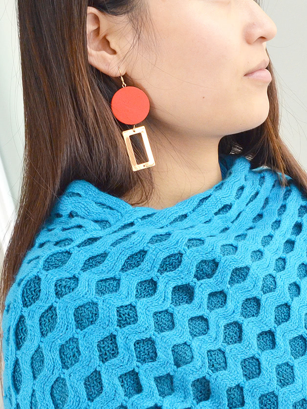 Red Wood Geometric S...