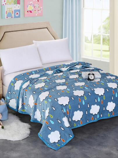Seamless Cartoon Pattern Plush Blanket