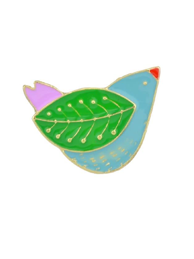 Enamel Colorful Leaves Bird Brooch bird brooch