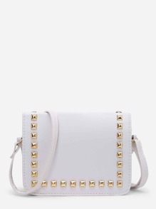 Studded PU Flap Bag