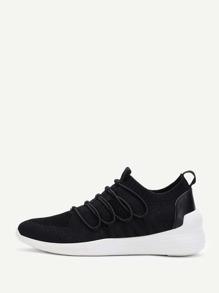 Knit Design Slip On Sneakers