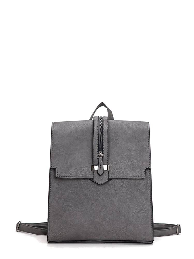 Zip Front Square PU Satchel Backpack women pu leather backpack fashion black high quality student bag lady casual designer women s shoulder bag drop shipping