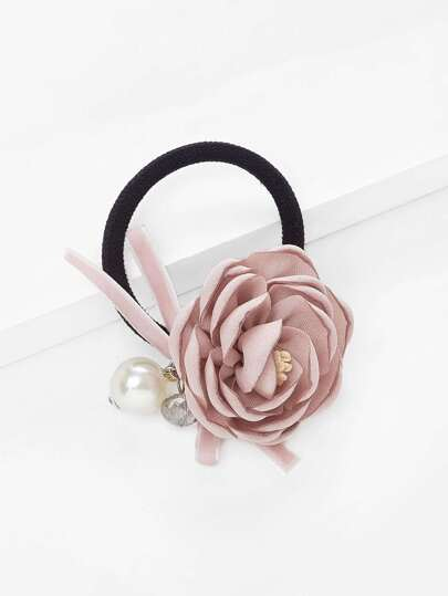 Flower Decorated Hair Tie
