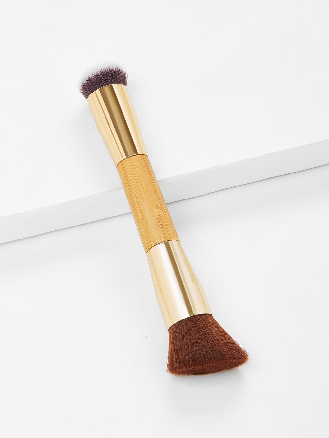 Wood Handle Double Head Makeup Brush