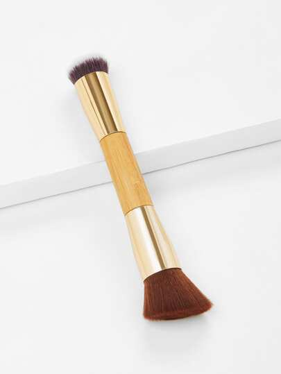 Wood Handle Double Head Makeup Brush
