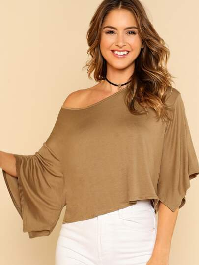 Wide Sleeve Crop T-shirt