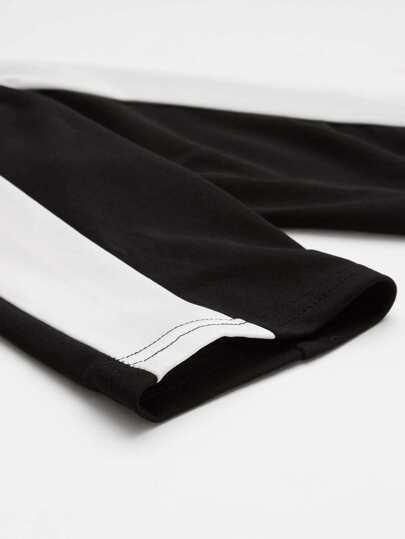 Block Stripe Side Hoodie And Pants