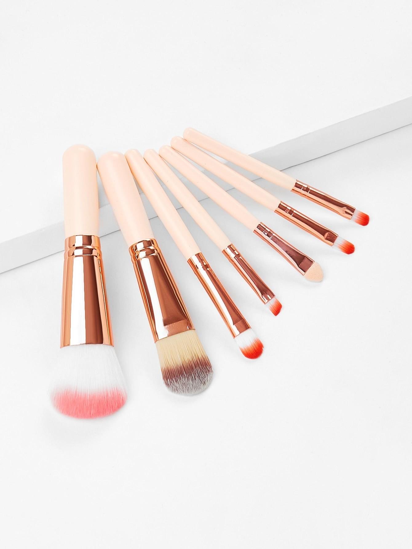 Wood Handle Professional Makeup Brush 7pcs