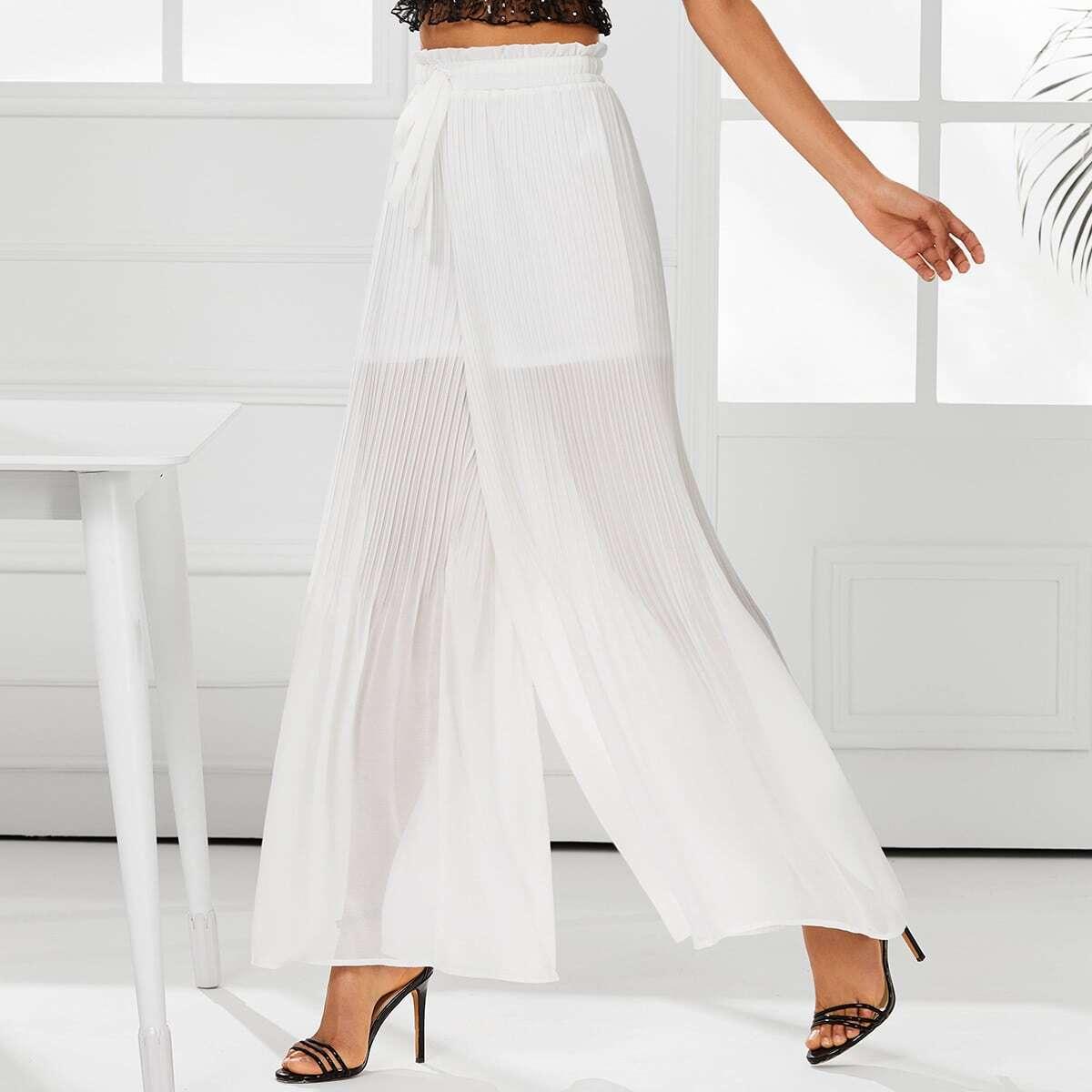 SHEIN / Hosen mit Falten um die Taille, Plissee und weitem Beinschnitt