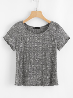 Space Dye Ribbed Knit Tee