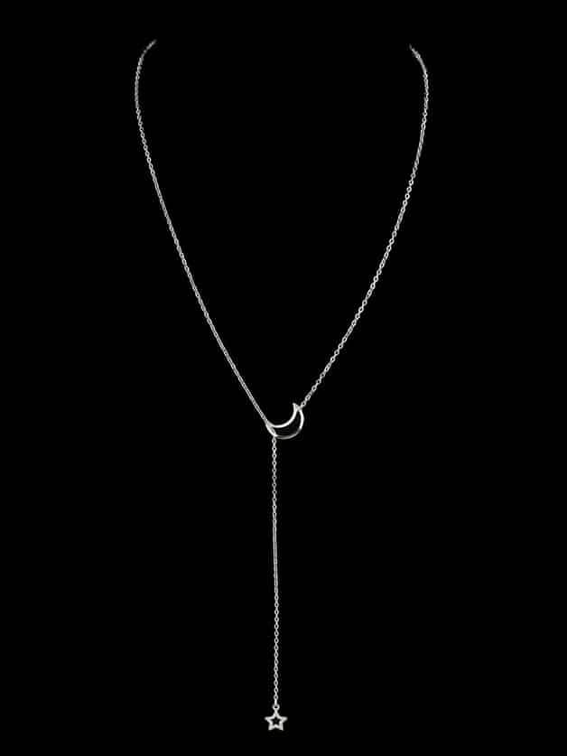 Купить Звезда стильноеожерелье Серебряные Ожерелья, null, SheIn