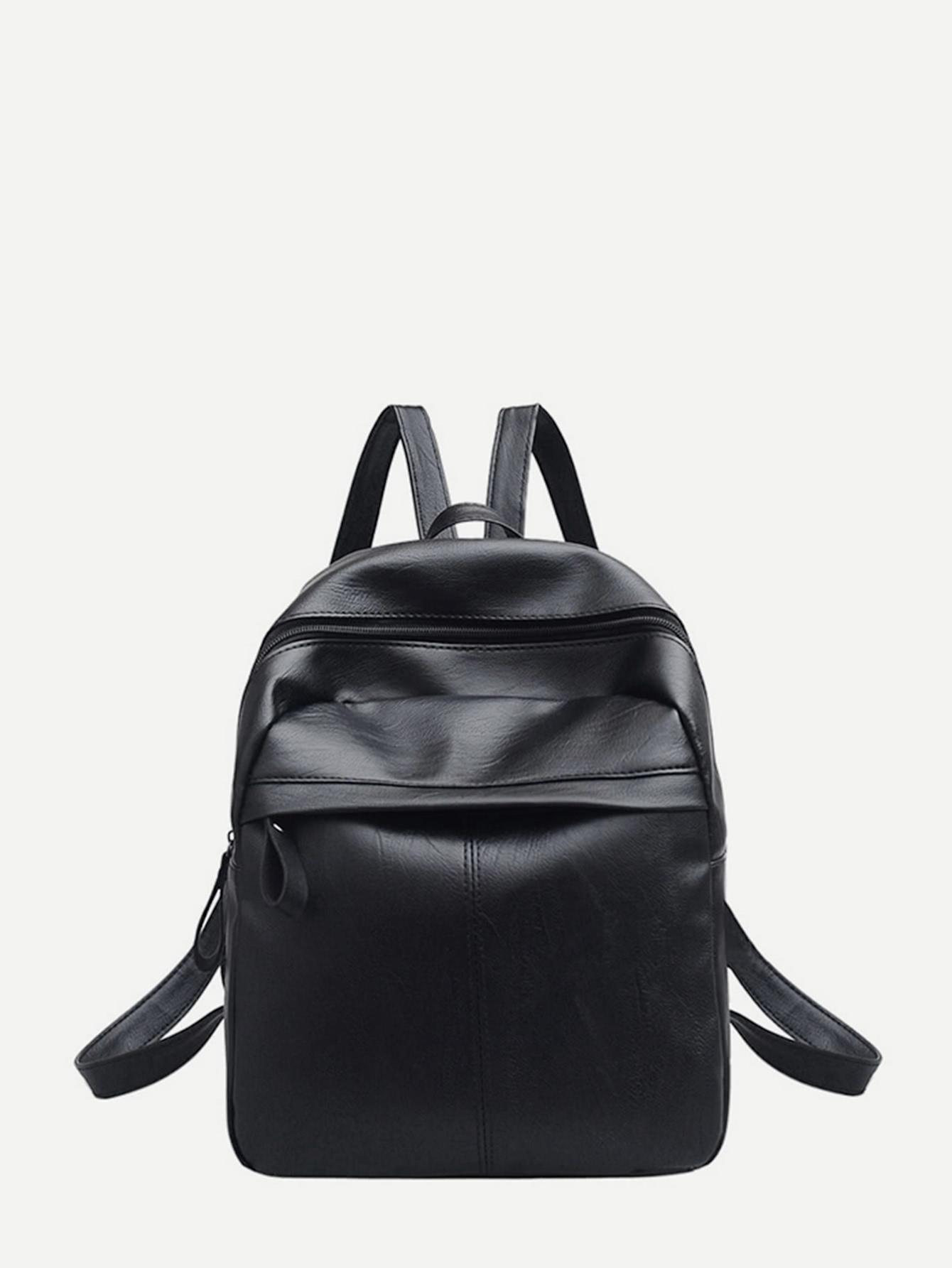 Купить Рюкзак PU с регулируемыми ремешками, null, SheIn