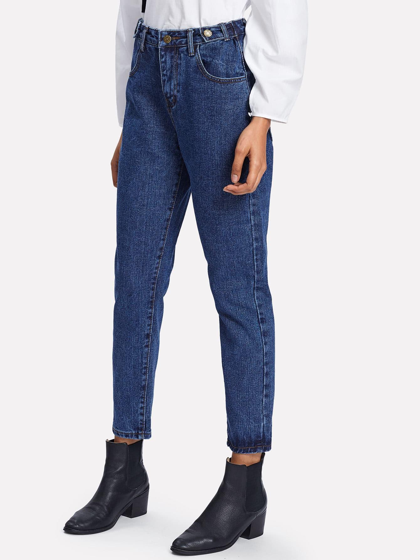 Carrot Crop Jeans grid carrot pants
