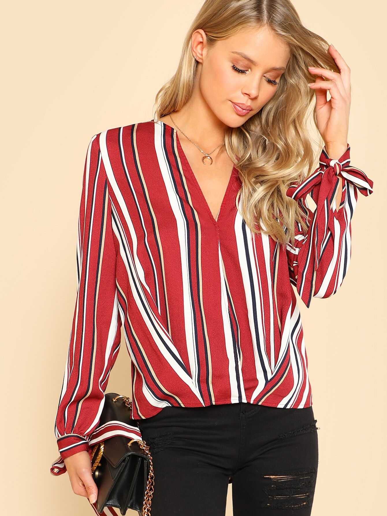 Knot Cuff Asymmetrical Hem Top