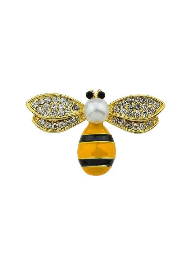 Cute Bee Brooch cute tiny sleep penguin chain brooch