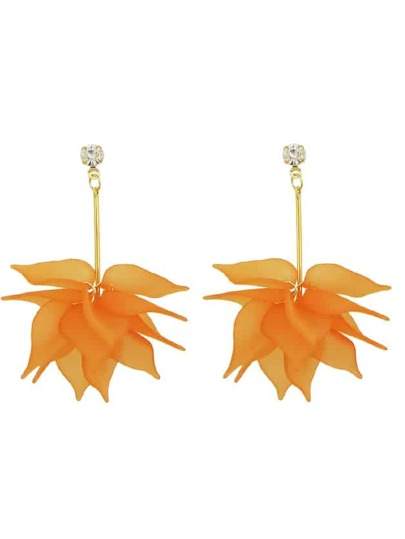 Flower Dangel Earrings