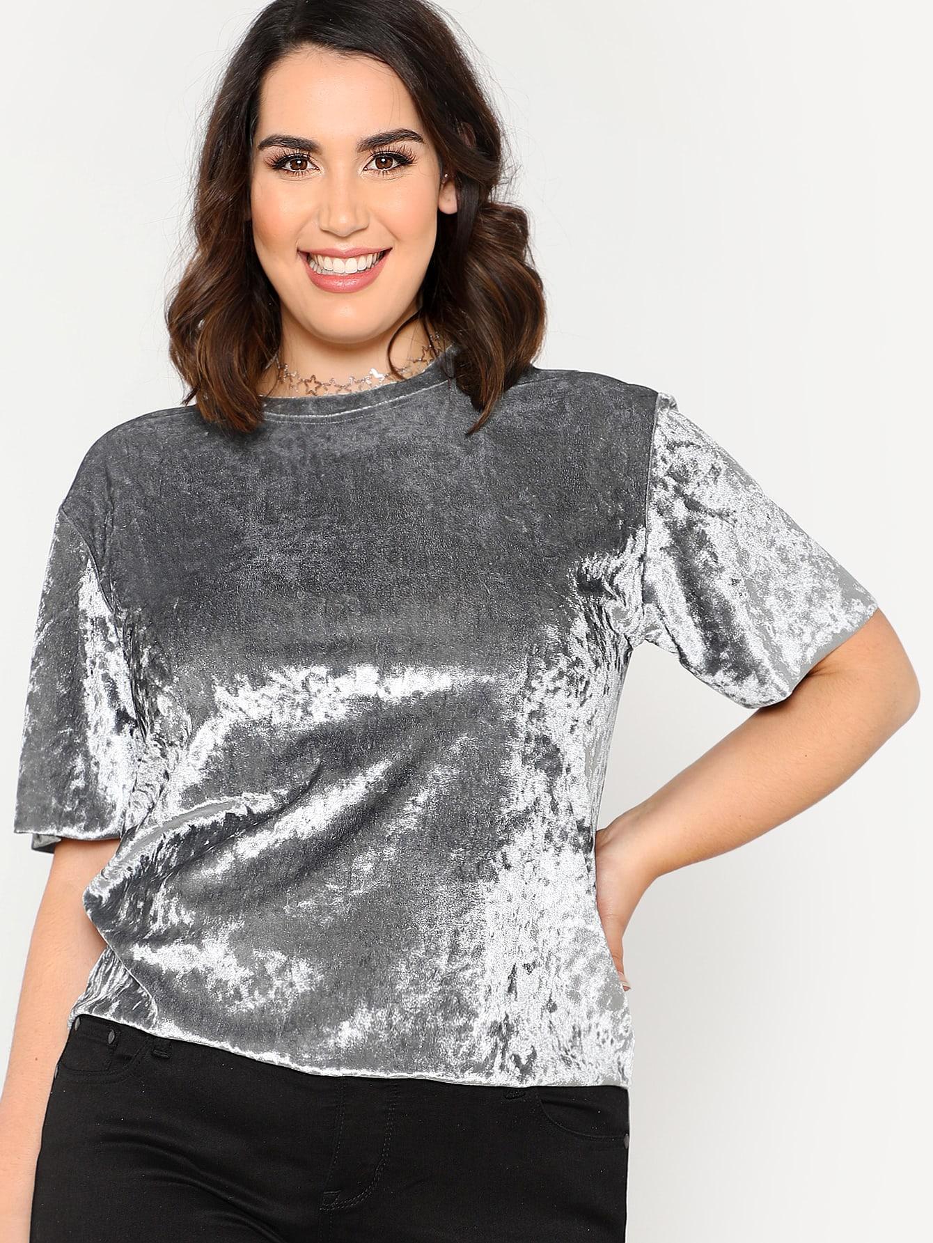 Solid Velvet T-shirt