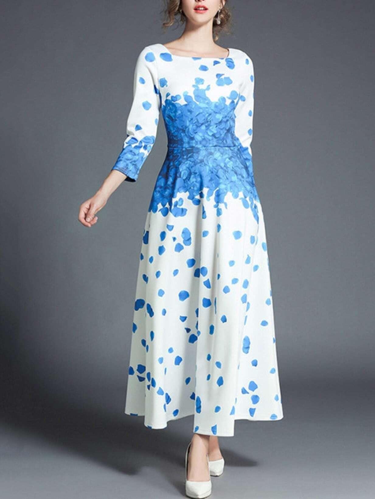 Flower Print Longline Dress tribal print longline dress