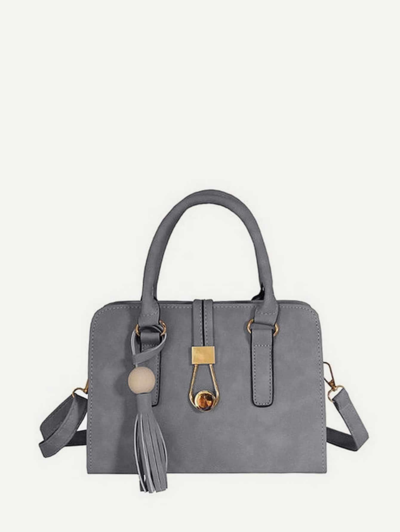 Tassel Detail PU Shoulder Bag tassel detail pu shoulder bag