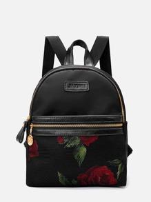 Floral Pocket Front Backpack
