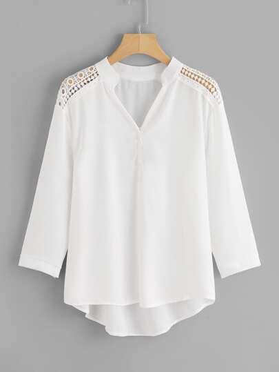 Robe longue blanche dentelle zara