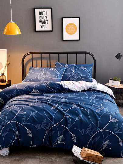 1.8m 4Pcs All Over Pattern Duvet Cover Set