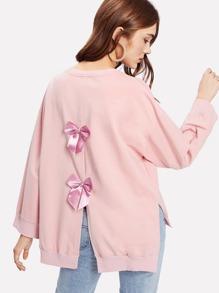 Bow Back Split Detail Sweatshirt