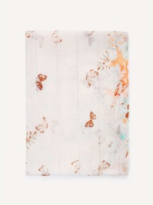 Butterfly Print Light Scarf