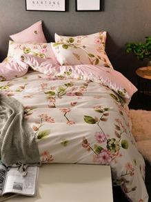1.0m 3Pcs All Over Florals Print Duvet Cover Set